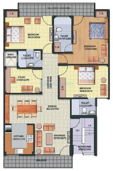 aditya gracious floors apartment 4bhk 2152sqft1