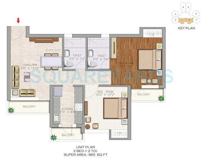 aditya luxuria estate apartment 2bhk 965sqft1