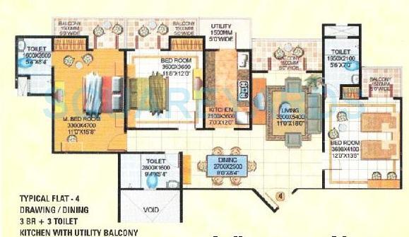 amrapali royal apartment 3bhk 1800sqft 1