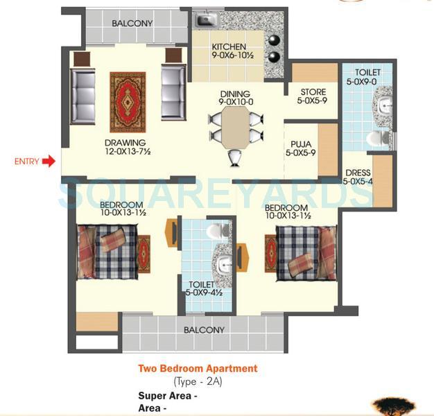 apex acacia valley apartment 2bhk 1200sqft 1