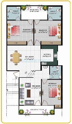 apex royal castle ind floor gf 3bhk 1917sqft 1
