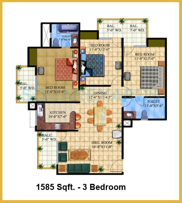 ar elysium homes apartment 3bhk 1585sqft 1