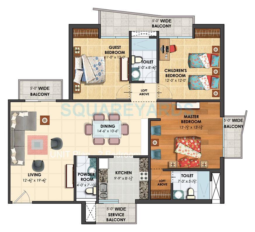 assotech the nest apartment 3bhk 1810sqft 1