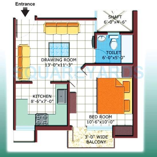 bliss saraswati apartment apartment 1bhk 550sqft1