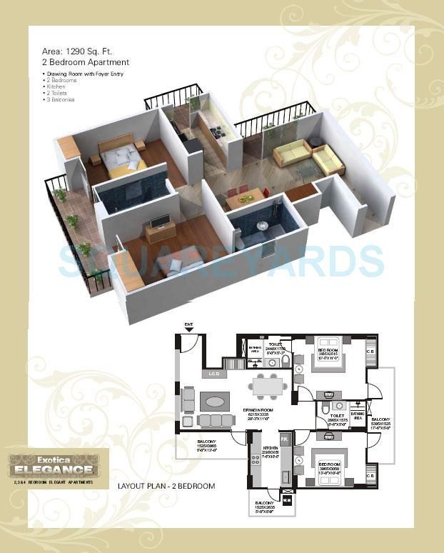 exotica elegance apartment 2bhk 1290sqft 1