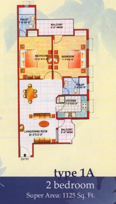 jaipuria sunrise greens apartment 2bhk 1125sqft 1