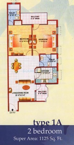 jaipuria sunrise greens apartment apartment 2bhk 1125sqft1