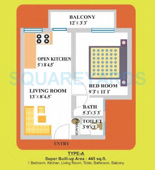 landcraft dinesh nagar apartment 1bhk 445sqft1