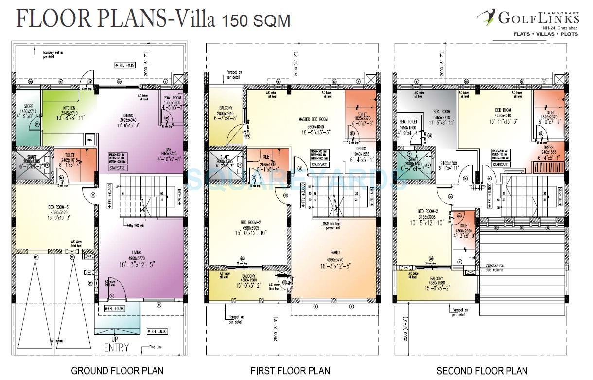 landcraft golflink villas villa 5bhk 1615sqft1
