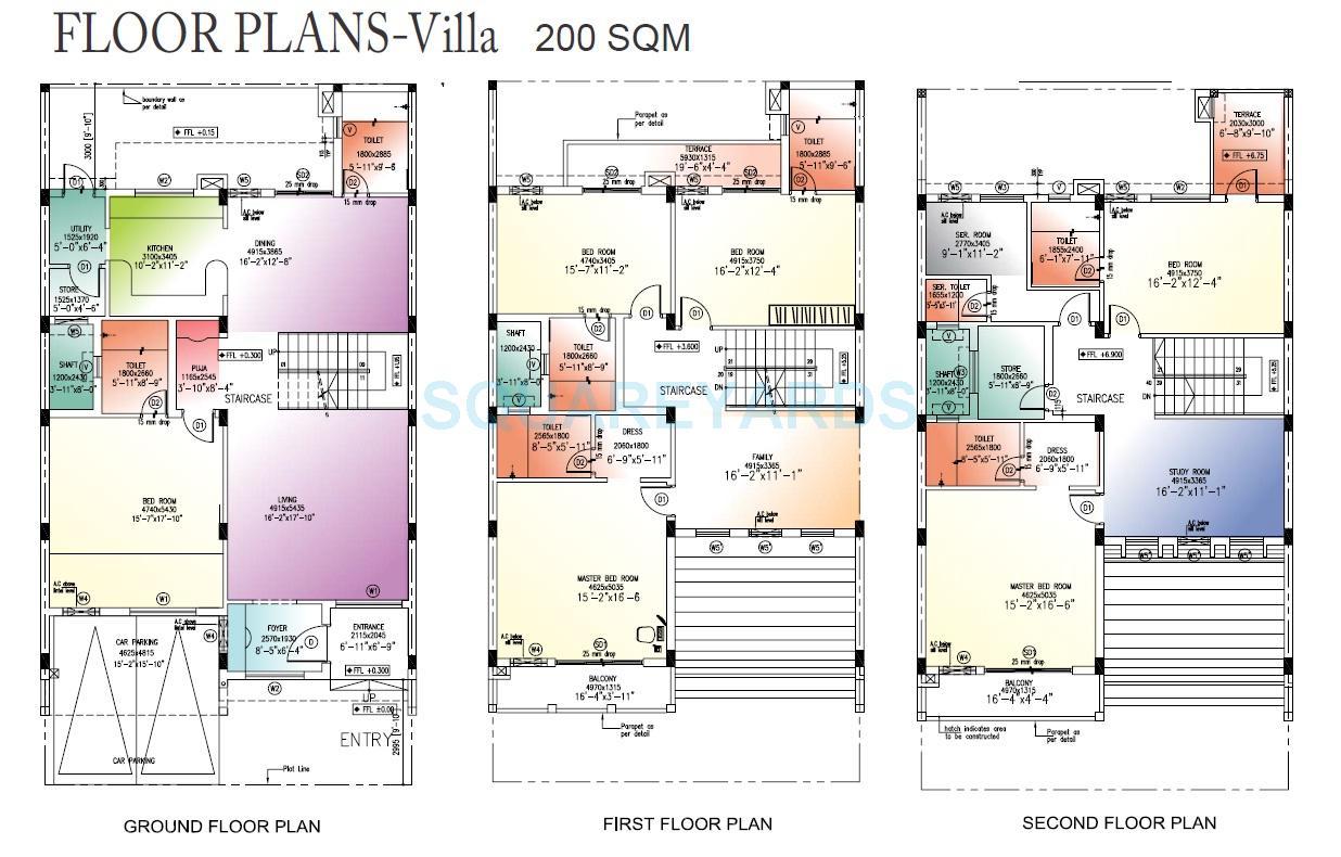 landcraft golflink villas villa 6bhk 2153sqft1