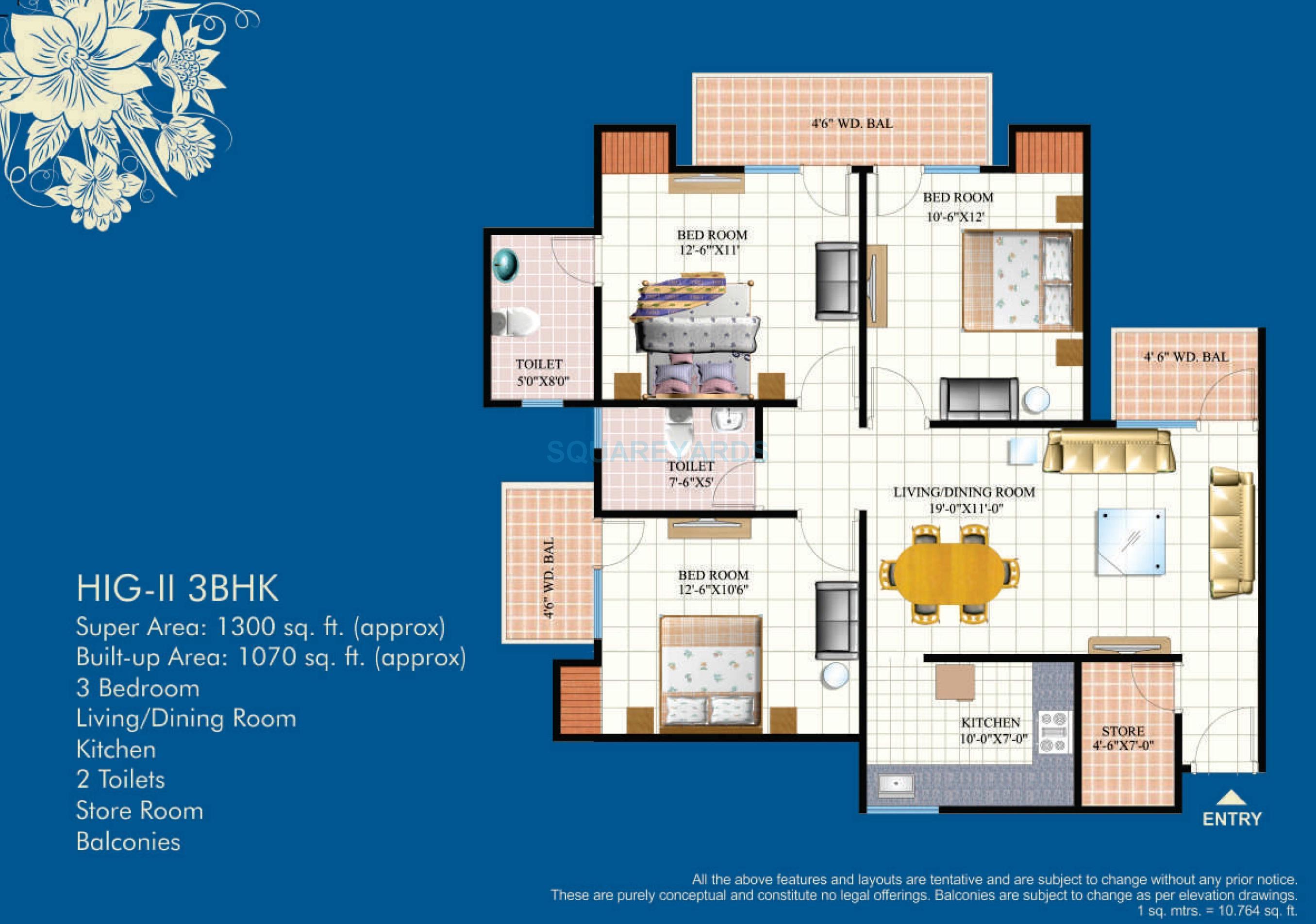 mahagun mahagunpuram apartment 3bhk 1300sqft1