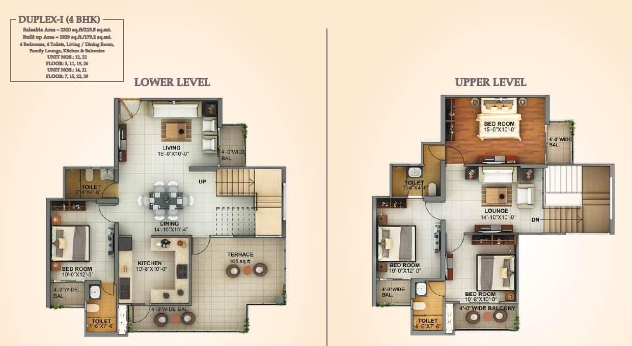 mahagun montage penthouse 4bhk 2320sqft 1