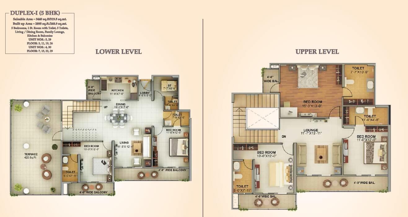 mahagun montage penthouse 5bhk 3440sqft 1
