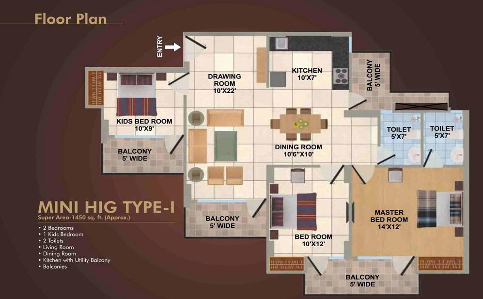 panchsheel wellington 2 apartment 3bhk 1450sqft41