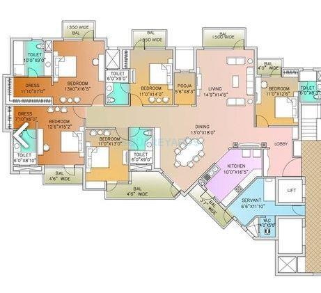 parsvnath exotica apartment 5bhk 3650sqft1