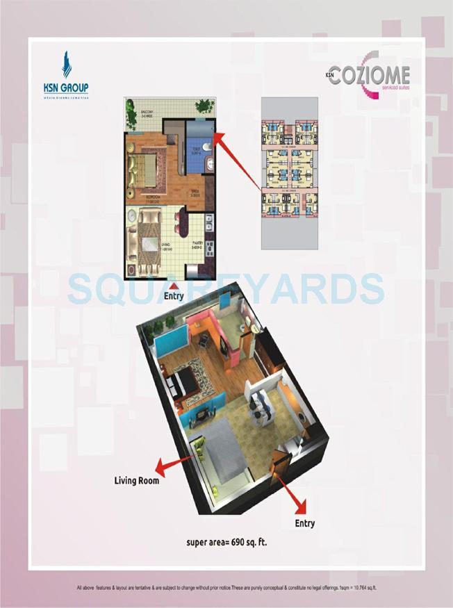 sarvottam ksn coziome apartment 1bhk 690sqft1