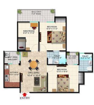 scc blossom apartment 2bhk 1165sqft 1