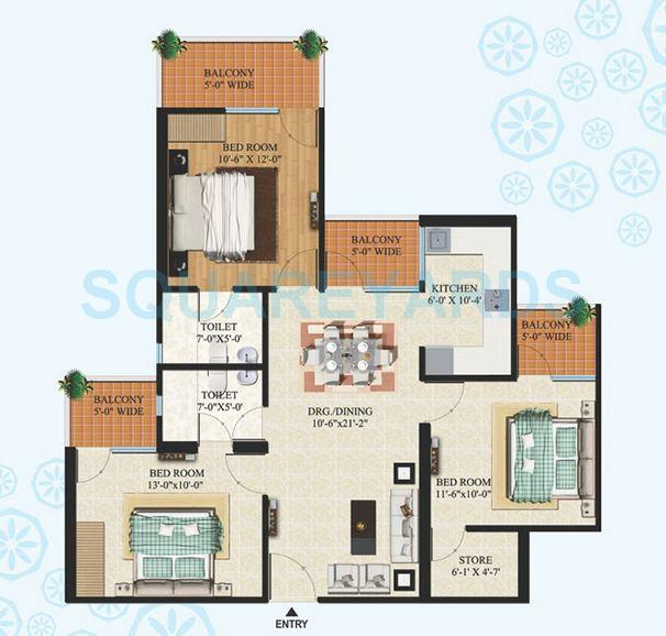 sg oasis apartment 3bhk 1365sqft1