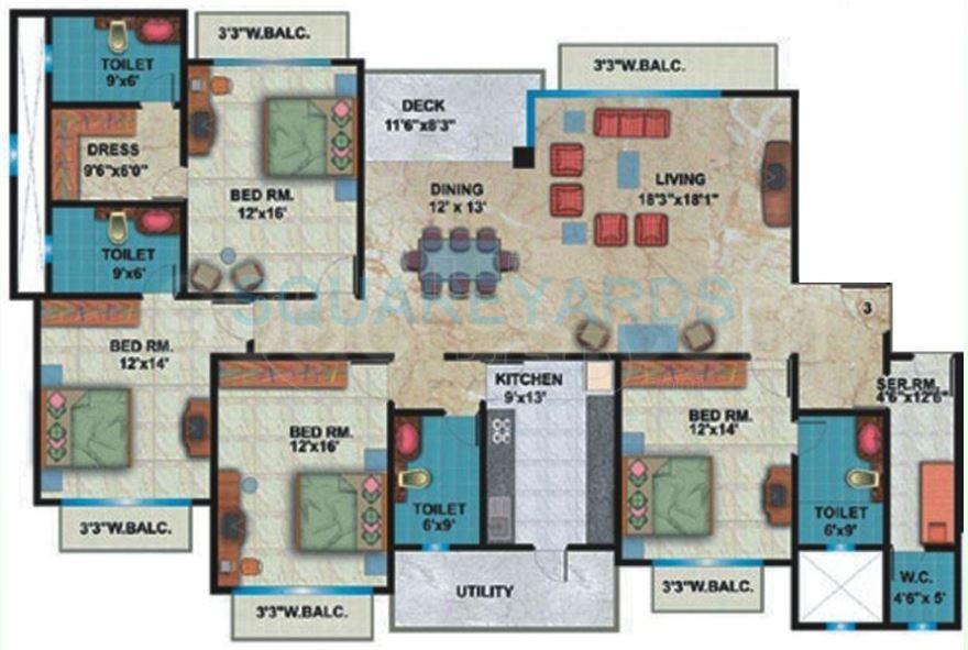 shipra shipra srishti apartment 4bhk 2850sqft1