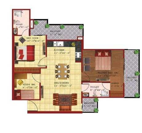 skb gold coast apartment 2 bhk 1285sqft 20210005170010