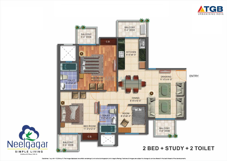 tgb neelgagan apartment 2bhk 1250sqft 1