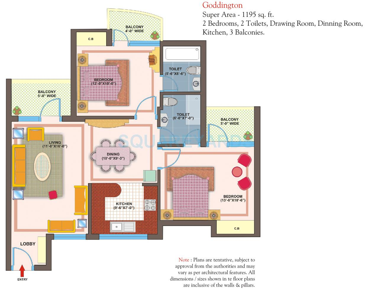 vxl retailors eastern gates apartment 2bhk 1195sqft1