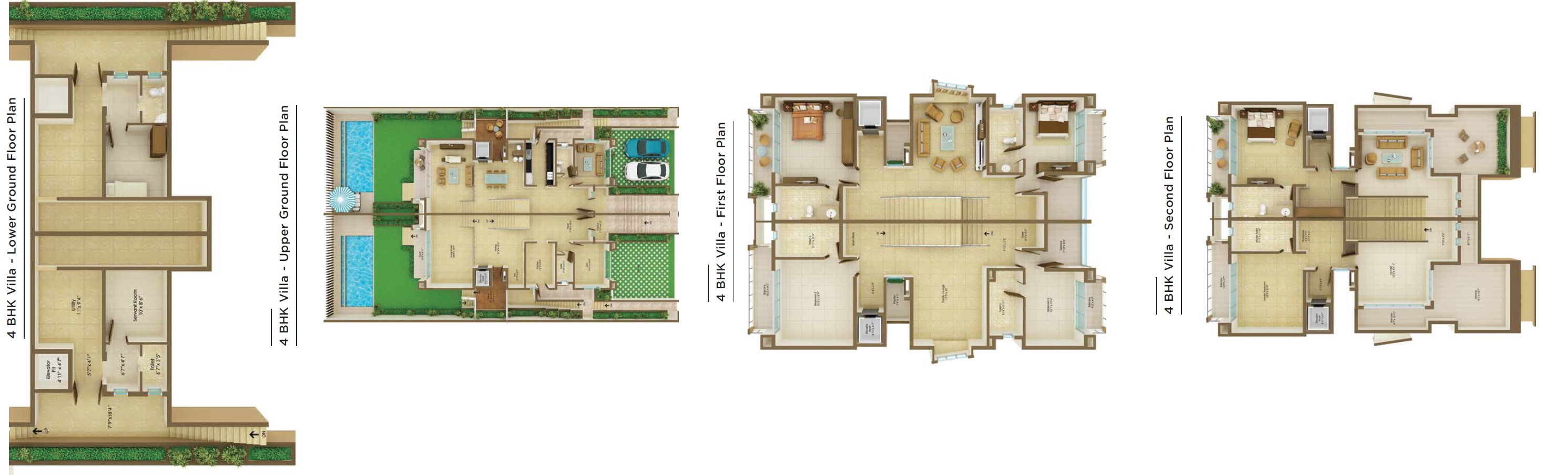 peninsula ashok beleza villa villa 4bhk sq 3056sqft 1