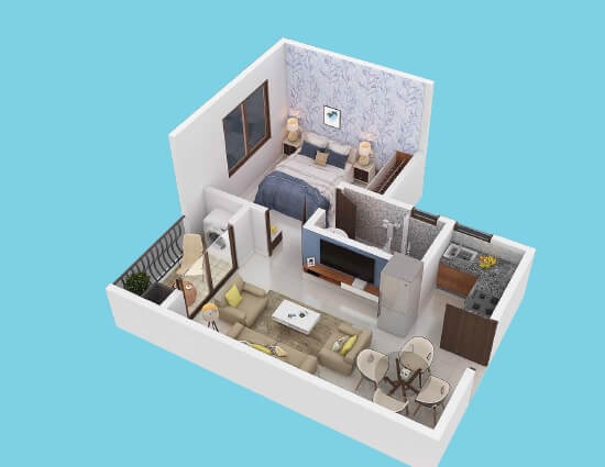 puravankara adora de goa apartment 1bhk 540sqft 1