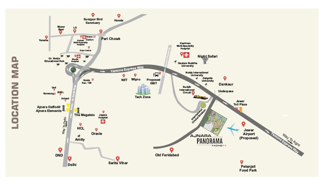 ajnara panorama facing f1 project location image1