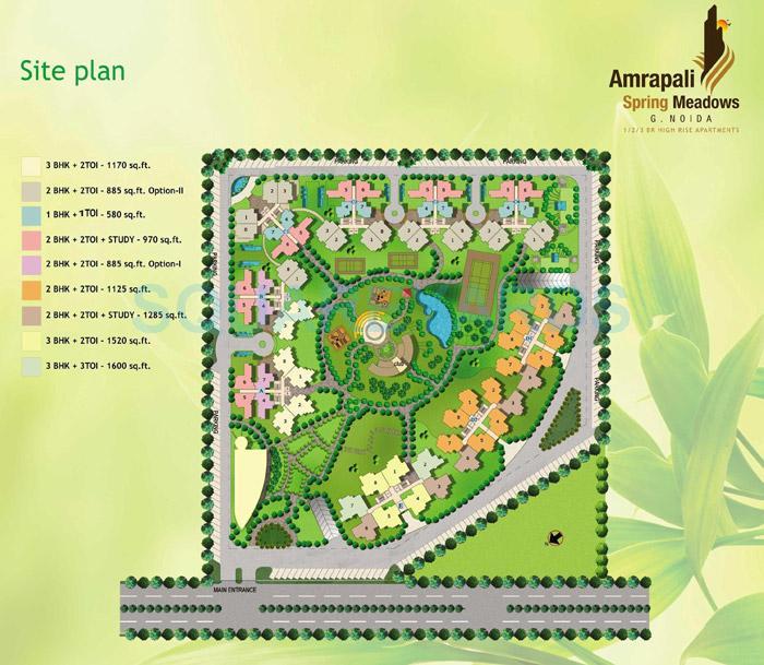 amrapali spring meadows master plan image1