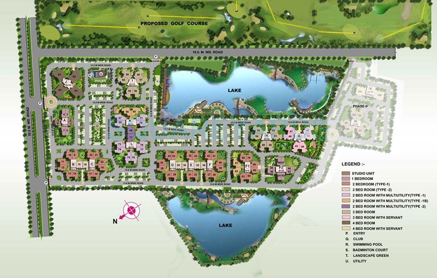 ansal api sushant megapolis fairway apartments master plan image1