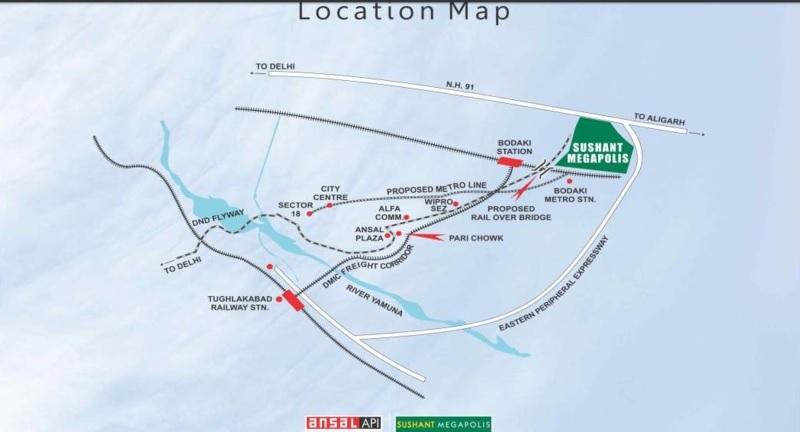 ansal megapolis plots phase ii project location image1