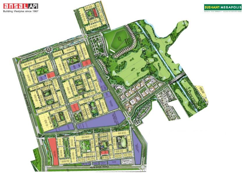 ansal megapolis plots phase ii project master plan image1
