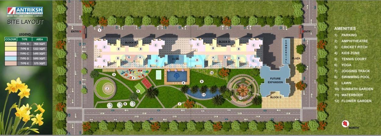 antriksh valley master plan image5