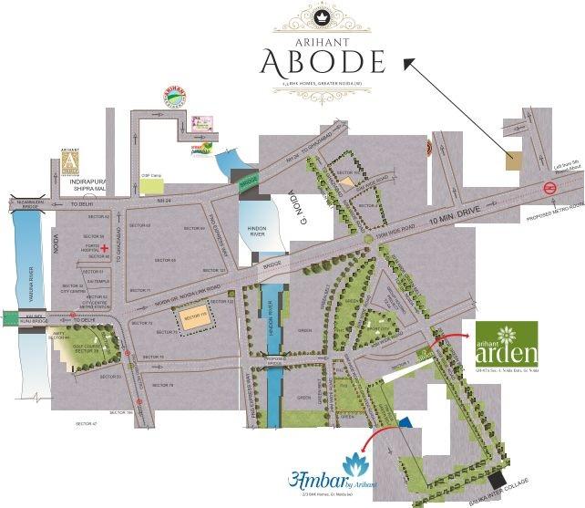 arihant abode location image8
