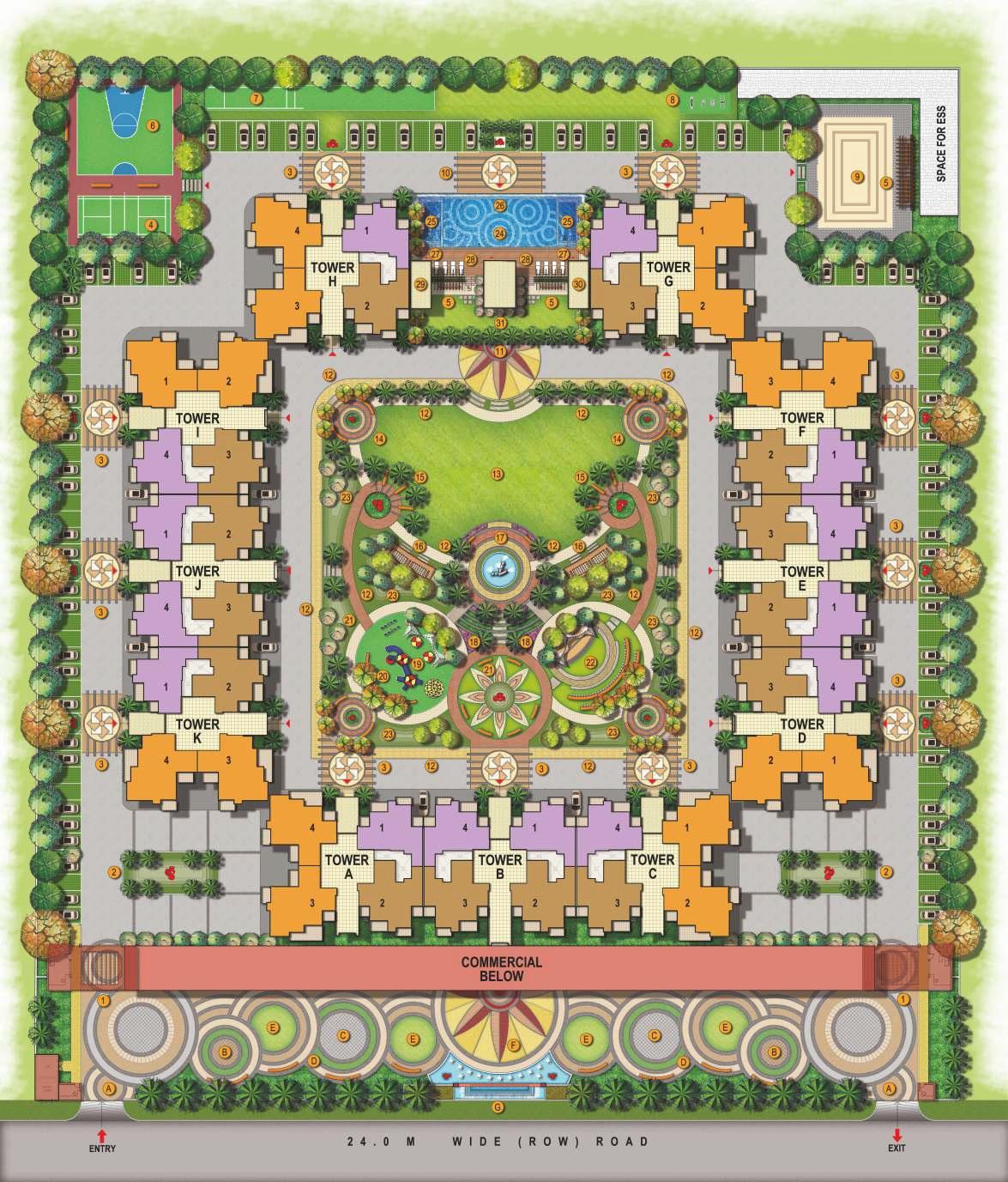 arihant abode master plan image7