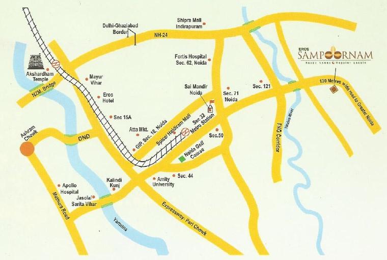 eros sampoornam mart project location image1