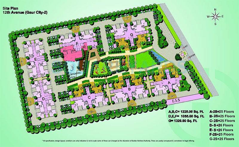 gaur city 2 12th avenue master plan image1