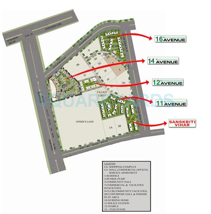 gaur city 2 12th avenue master plan image2