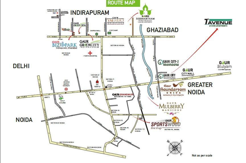 gaur city 7th avenue project location image1
