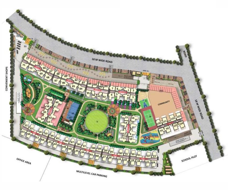 gaur city 7th avenue project master plan image1