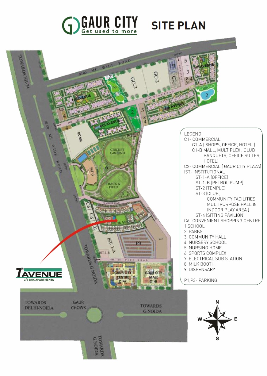 gaur city 7th avenue project master plan image2