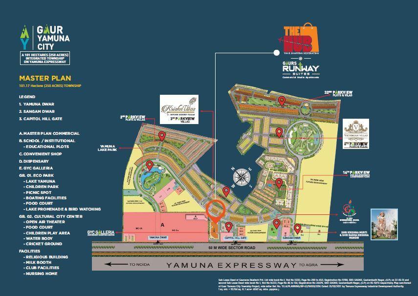 gaur the hub master plan image1