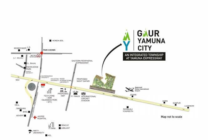 gaur yamuna city 16th park view location image1