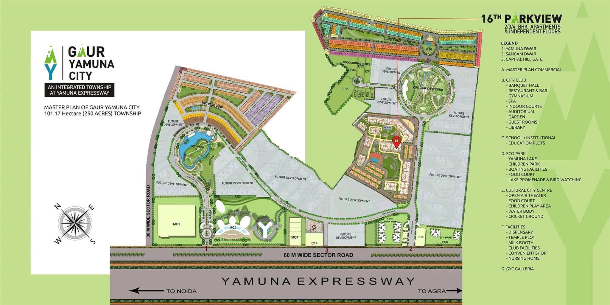 gaur yamuna city 16th park view master plan image1