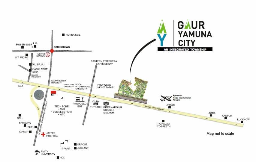 gaur yamuna city 2nd park view location image1
