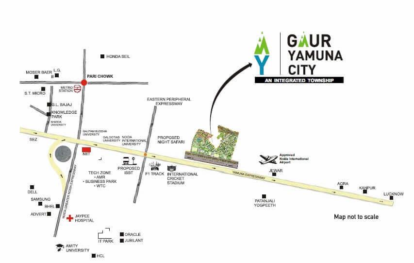 gaur yamuna city 32nd park view location image1
