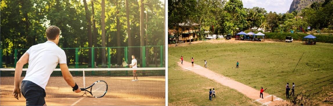 gaur yamuna city 6th park view sports facilities image1