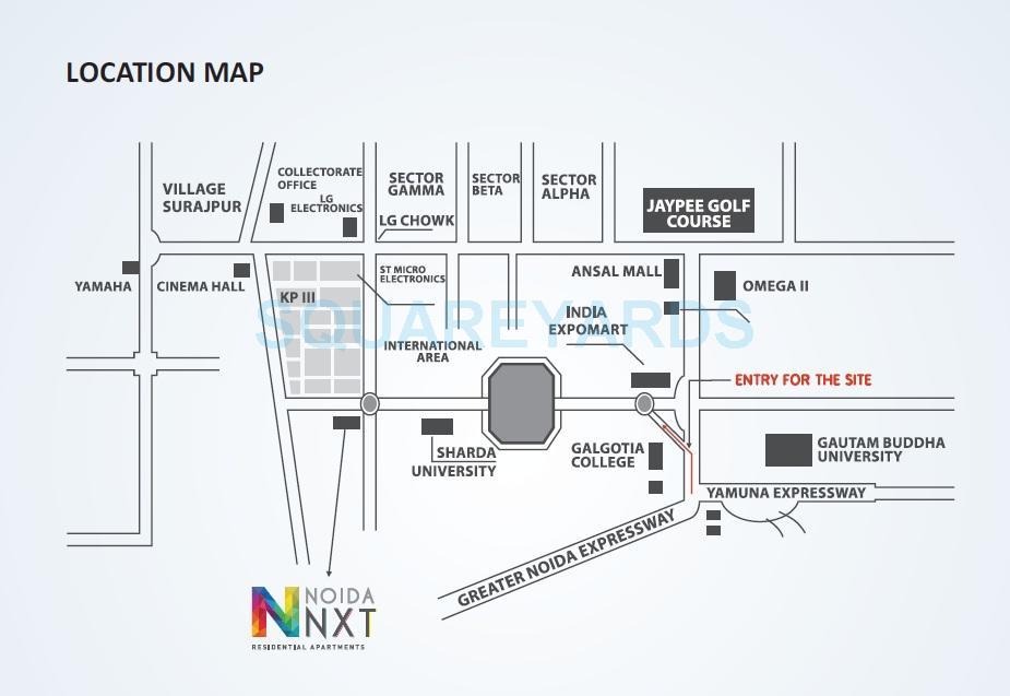 horizon noida nxt location image1