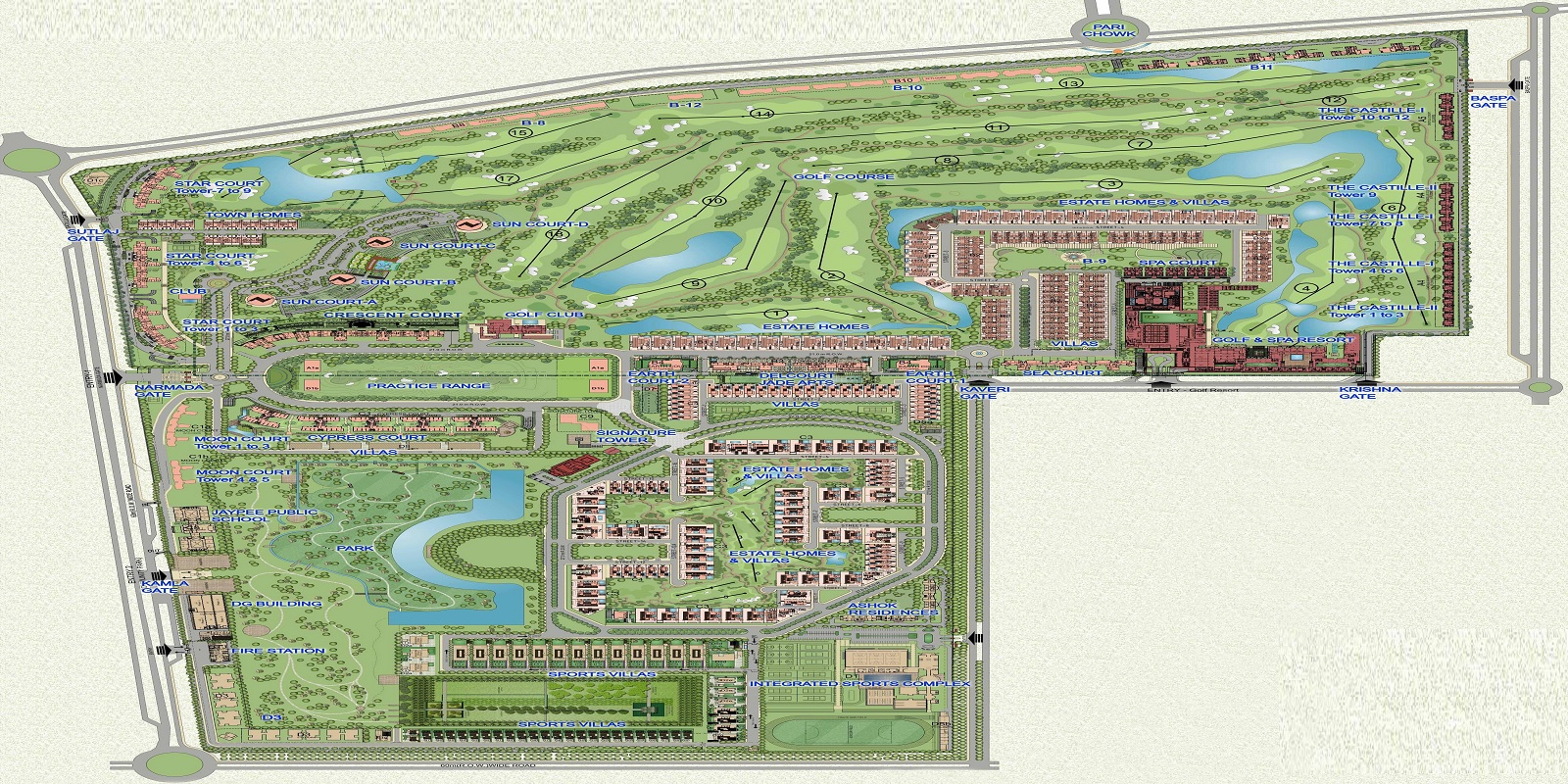 jaypee green earth court project master plan image1